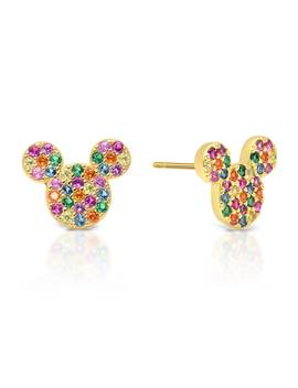 Mickey Mouse Rainbow Icon Earrings By Crislu by Disney