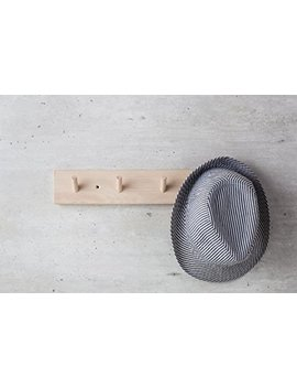 Iris Hantverk Birch Wood Wall Rack With 4 Hooks by Iris Hantverk