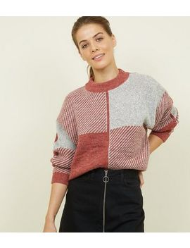 Qed Rust Contrast Check Pattern Jumper by New Look