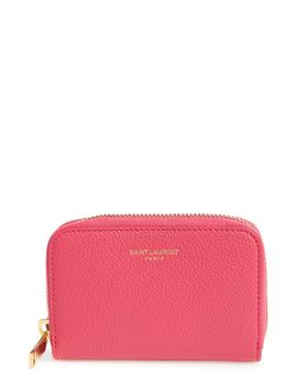 Zip Around Calfskin Leather Wallet by Saint Laurent