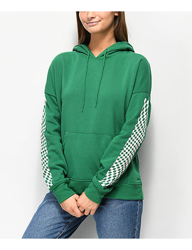 Empyre Fredia Never Ever Green & Checkered Hoodie by Empyre