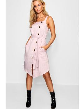 Double Breasted Check Midi Dress by Boohoo