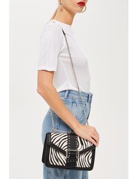 Seema Zebra Shoulder Bag by Topshop