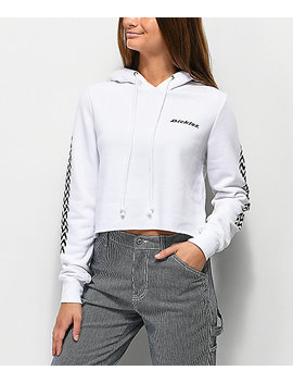 Dickies Tread White Crop Hoodie by Dickies