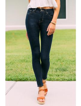 Levi's 721 High Rise Skinny In Cast Shadows by Francesca's