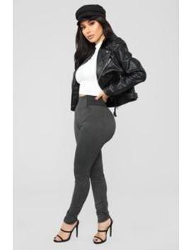 Its Business Baby Plaid Ponte Pants   Black by Fashion Nova
