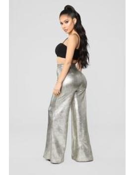 When I Think About You Pants   Gold by Fashion Nova