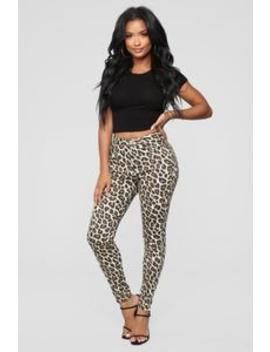 Can't Hunt Me Down Pants   Leopard by Fashion Nova