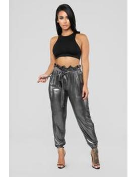 Be Careful With Me Joggers   Silver by Fashion Nova