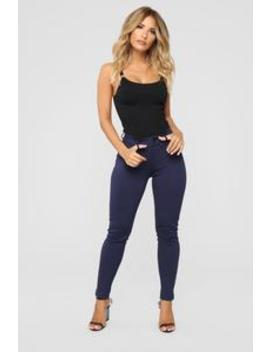 My Every Occasion Ponte Pants   Navy by Fashion Nova