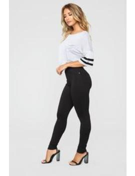 My Every Occasion Ponte Pants   Black by Fashion Nova