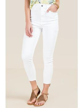 Harper White High Rise Jeans by Francesca's