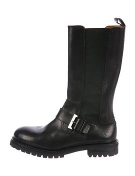 Dolce & Gabbana Leather Chelsea Tall Boots by Dolce & Gabbana