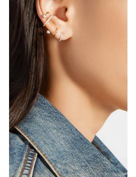Bela Blanc Twirl Ohrring Aus 14 Karat Gold Mit Rhodiumauflage Und Diamanten by Maria Black
