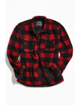 Levi's Plaid Sherpa Button Down Shirt by Levi's