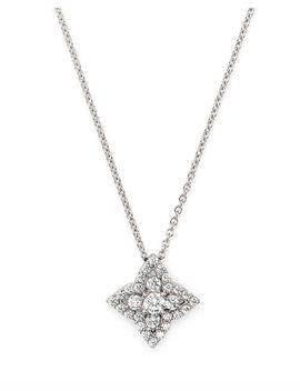 Diamond Clover Necklace In 14 K White Gold, 0.50 Ct. T.W.   100 Percents Exclusive by Bloomingdale's