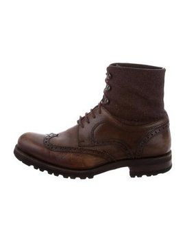 Magnanni Leather Wingtip Boots by Magnanni