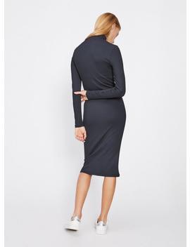 Navy High Neck Tube Midi Shift Dress by Miss Selfridge