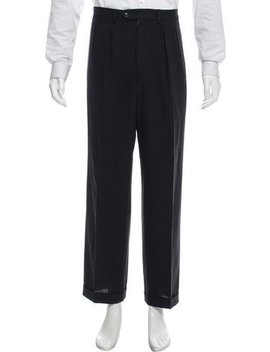 Calvin Klein Collection Pleated Wool Pants by Calvin Klein Collection
