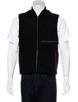 Billy Reid Leather Trimmed Vest by Billy Reid