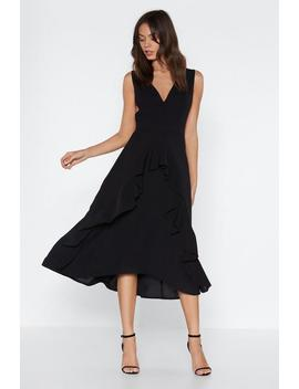 All Ruffled Up Midi Dress by Nasty Gal