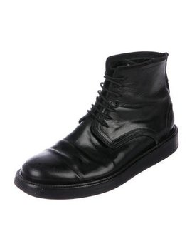 Dior Homme Leather Combat Boots by Dior Homme