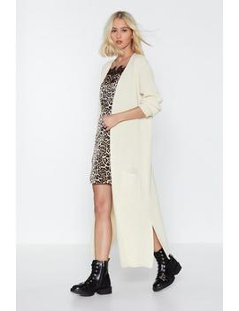 It's A Longline Knit Cardigan by Nasty Gal