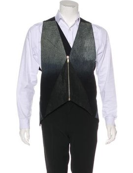 Rick Owens Gradient Chambray Vest by Rick Owens