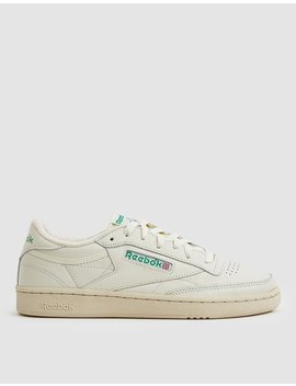 Club C 85 Sneaker In Chalk/Green by Reebok