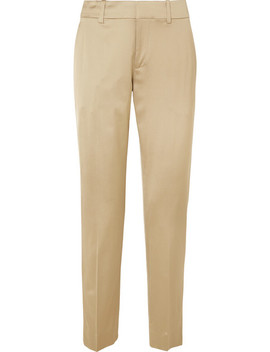 Metallic Satin Twill Straight Leg Pants by Jason Wu Grey