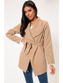 Camel Waterfall Cropped Duster by I Saw It First