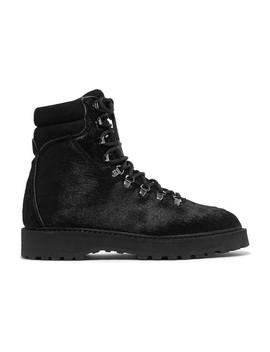 Monfumo Calf Hair Ankle Boots by Diemme