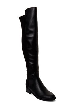 Black Unhudy 2 Over The Knee Boots by Unisa