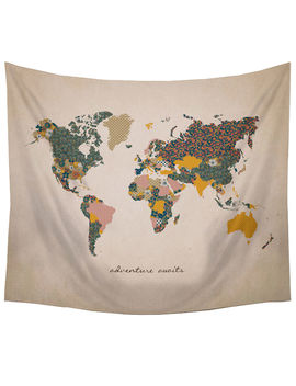Gallery Tapestry World Map 60x50 by At Home