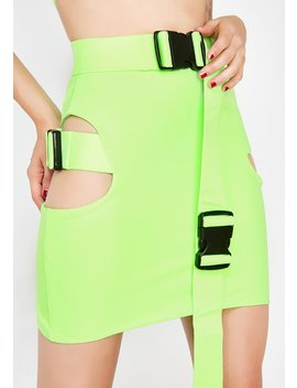 Biohazard Buckle Skirt by Lipt The Label