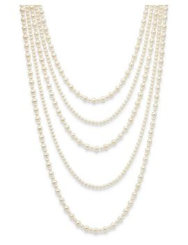 "Cultured Freshwater Pearl Five Row Necklace, 16"" 30""   100 Percents Exclusive by Bloomingdale's"