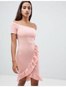Ax Paris Bardot Dress With Frill Detail by Dress