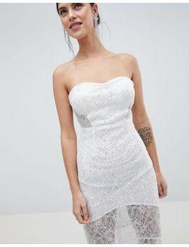 C By Cubic Bandeau Lace Fishtail Maxi Dress by Maxi Dress