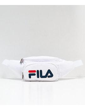 Fila White & Peacoat Fanny Pack by Fila