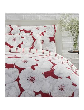 Wilko Duvet Set King Floral Red Wilko Duvet Set King Floral Red by Wilko