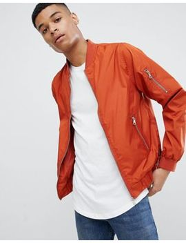 D Struct   Bomber In Nylon Con Zip by Asos