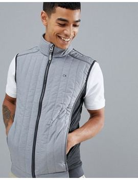 Calvin Klein Golf Padded Gilet In Grey Ckms18107 by Calvin Klein Golf