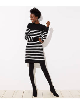 Striped Back Button Sweater Dress by Loft