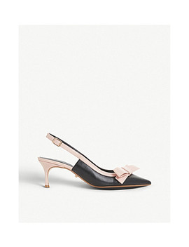 Clemmie Bow Trim Slingback Leather Courts by Dune