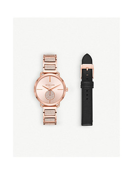 Mk2776 Portia Rose Gold Toned Stainless Steel Watch by Michael Kors