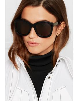 Oversized Square Frame Acetate Sunglasses by Linda Farrow