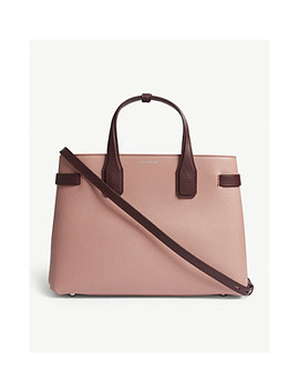Banner Medium Grained Leather Tote by Burberry