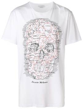 Map Skull T Shirt by Alexander Mc Queen