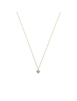 Abhi Single Stone Gold Plated Necklace by Olivar Bonas