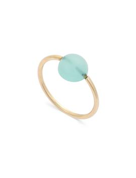 Nash Cabechon Round Stone Gold Plated Ring by Olivar Bonas